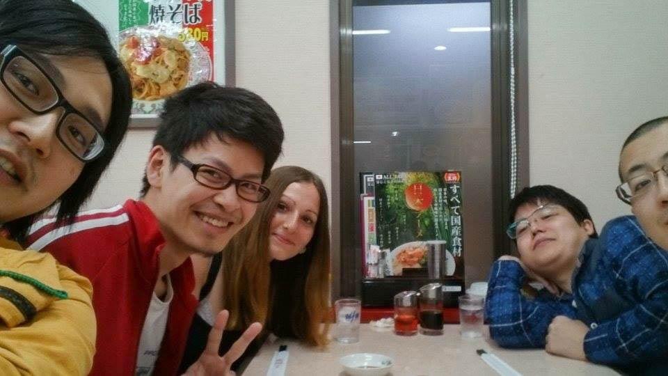 Essen mit Freunden in Kyoto