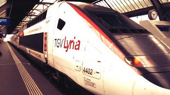 TGV Lyria am Zürich Hauptbahnhof