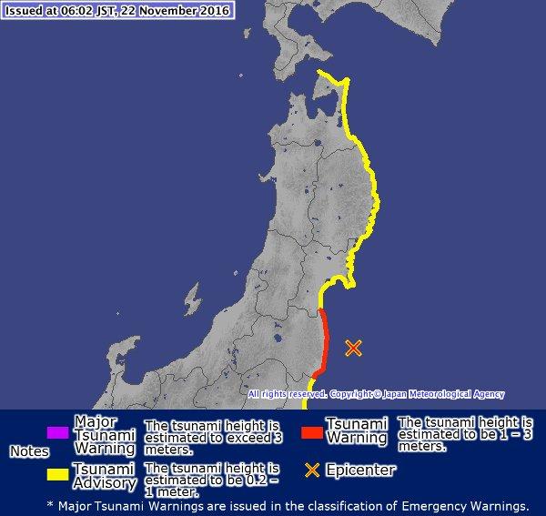 Japan-Erbeben-Karte