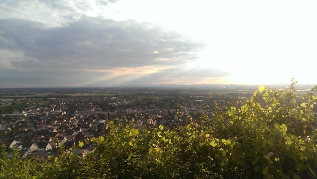Stadt in Deutschland von oben