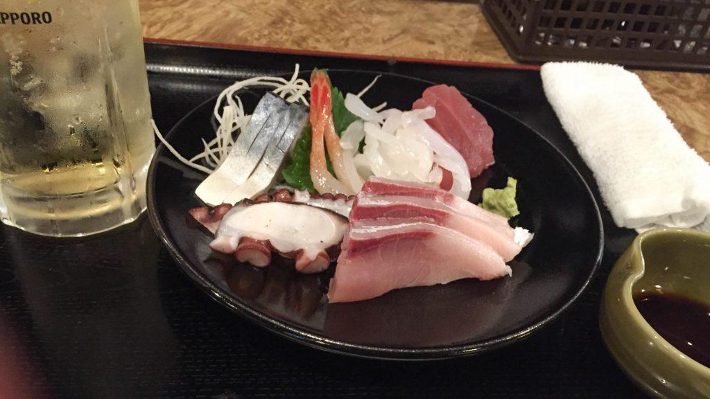 Leckeres Sushi in Hiroshima Japan