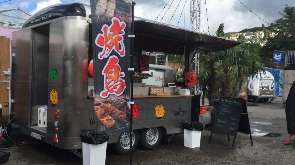 Yakitori Stand am Street Food Festival