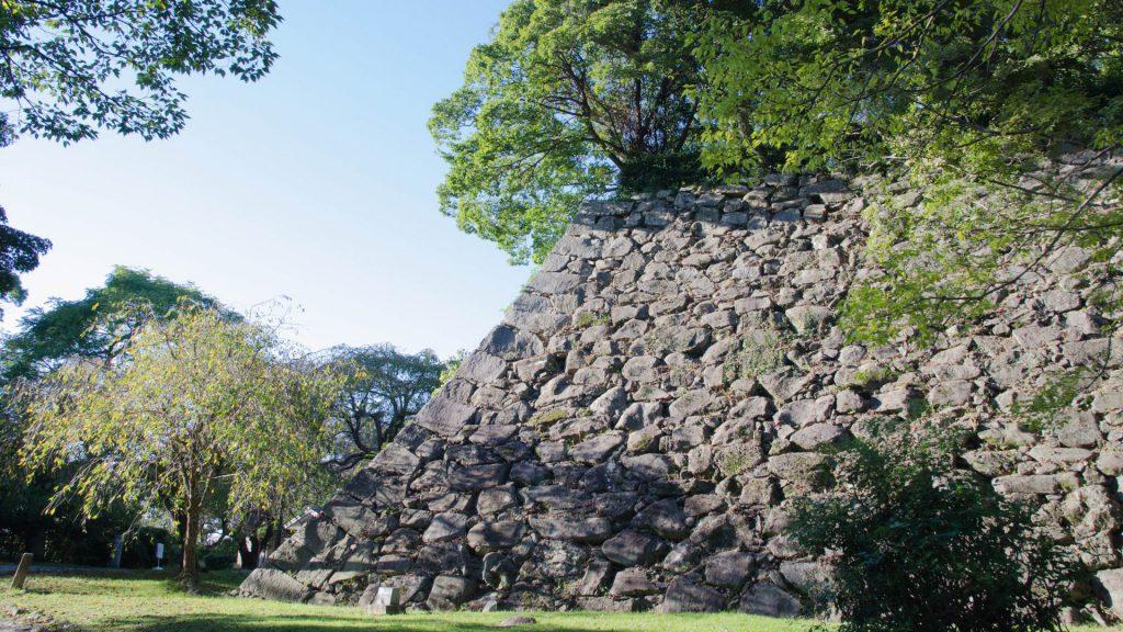 Schlossmauern in Fukuoka Japan