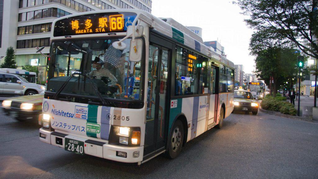 Bus in Fukuoka Japan