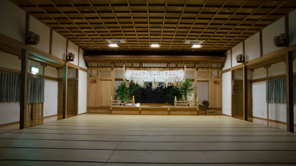 Leere Traditionelle Halle in Takachiho Japan