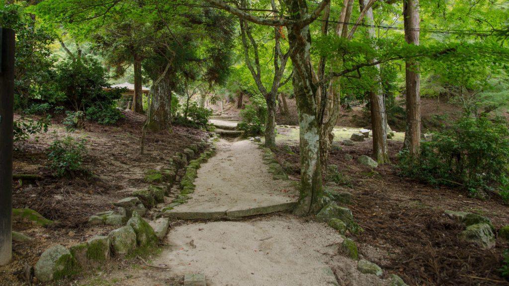 Wanderweg in Miyajima Japan