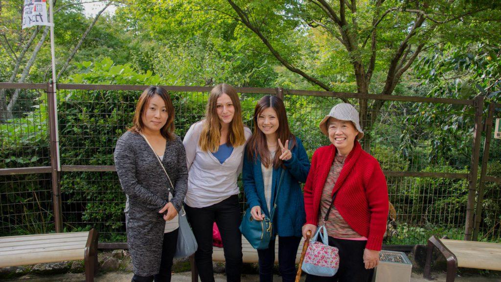 Lustiges Frauentrueppchen in Miyajima Japan
