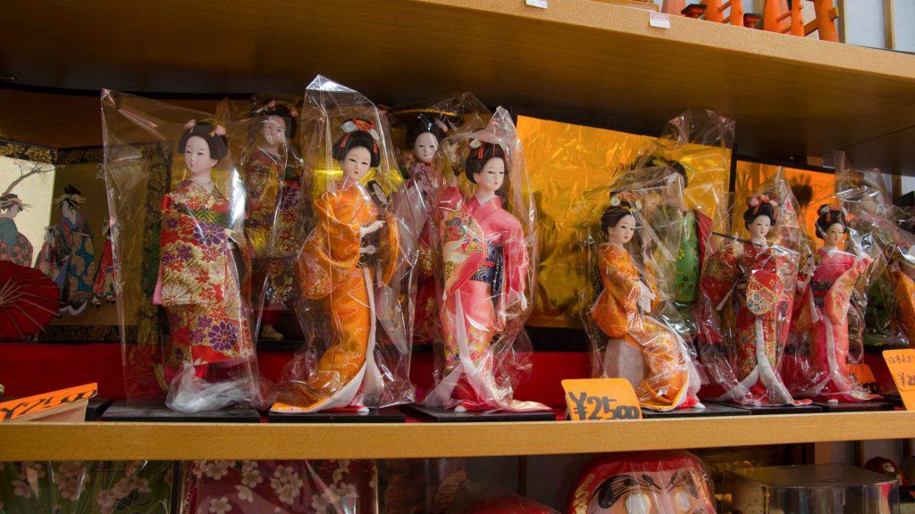 Japanische Geisha-Puppen