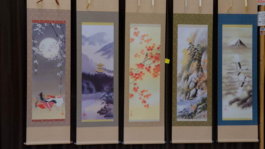 Japanische Wandbilder in klassischem Design