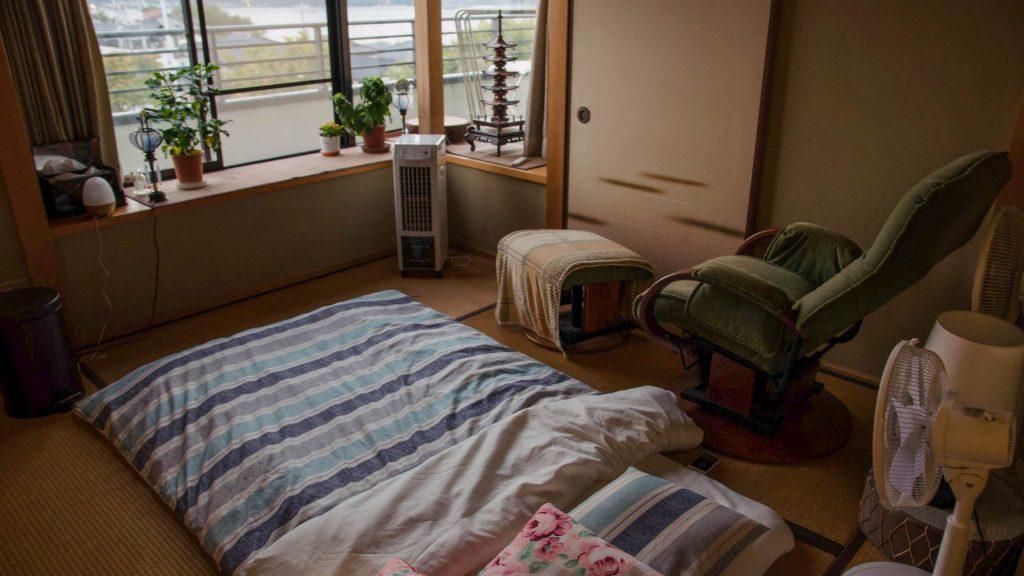 Am zweiten Tag durfte ich ins Tatami-Zimmer