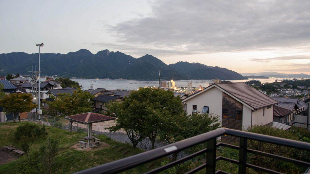 Aussicht von Hatsukaichishi in Japan