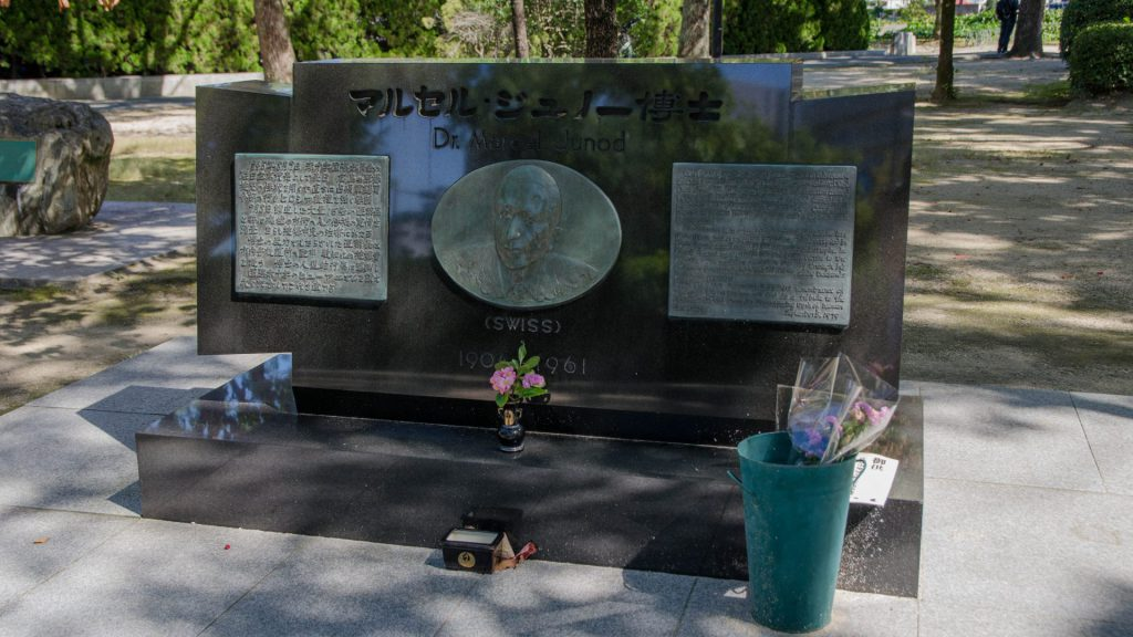 Marcel Junod Denkmal in Hiroshima Japan
