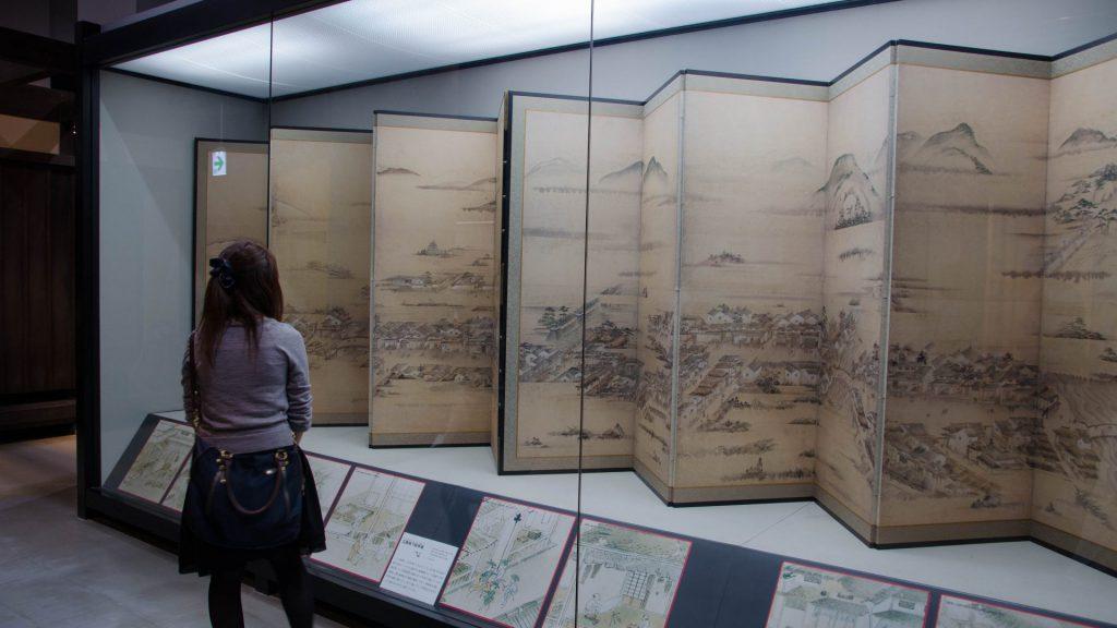 Ausstellung im Schloss in Hiroshima Japan