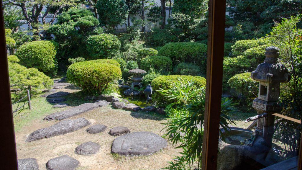 Japanischer Garten in Nagasaki Japan