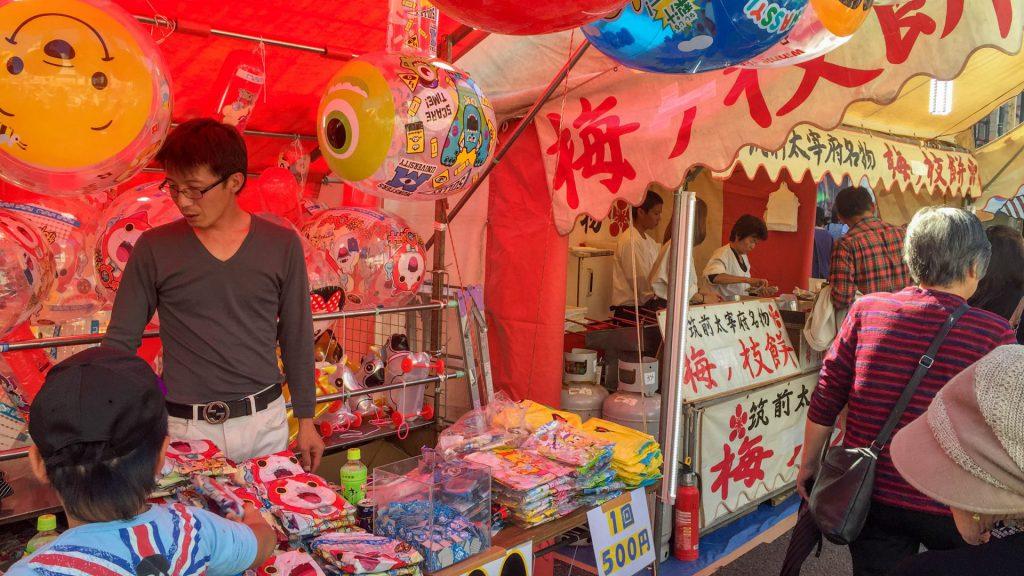 Marktstaende in Nagasaki Japan