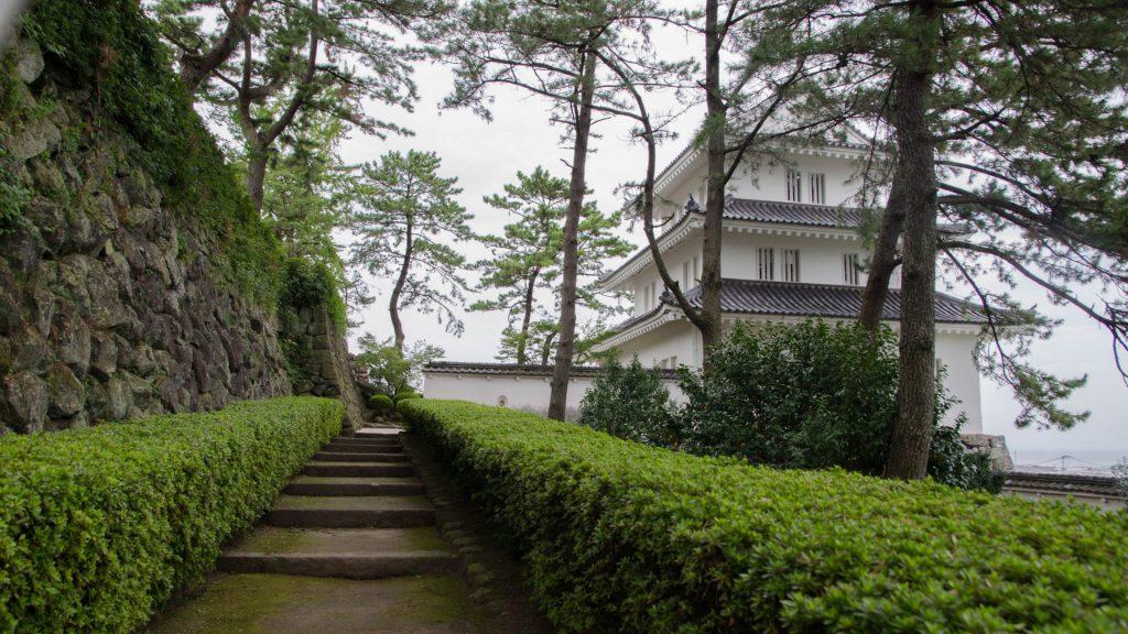 Aussengelaende des Shimabara Schloss in Japan