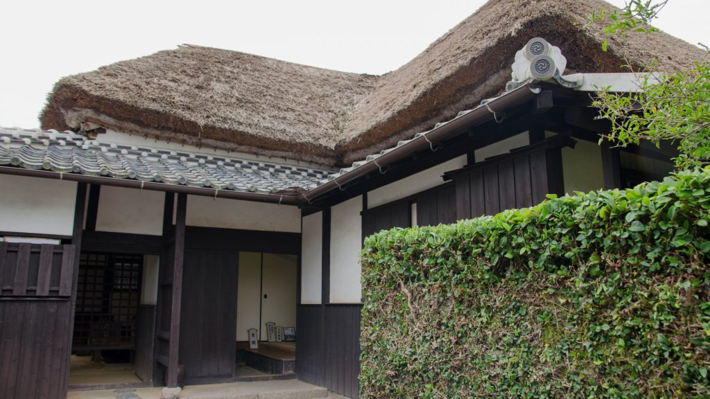 Traditionelles Haus in Shimabara Japan