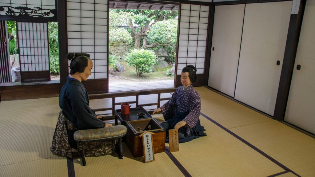 Modell eines traditionellen Hauses in Shimabara Japan