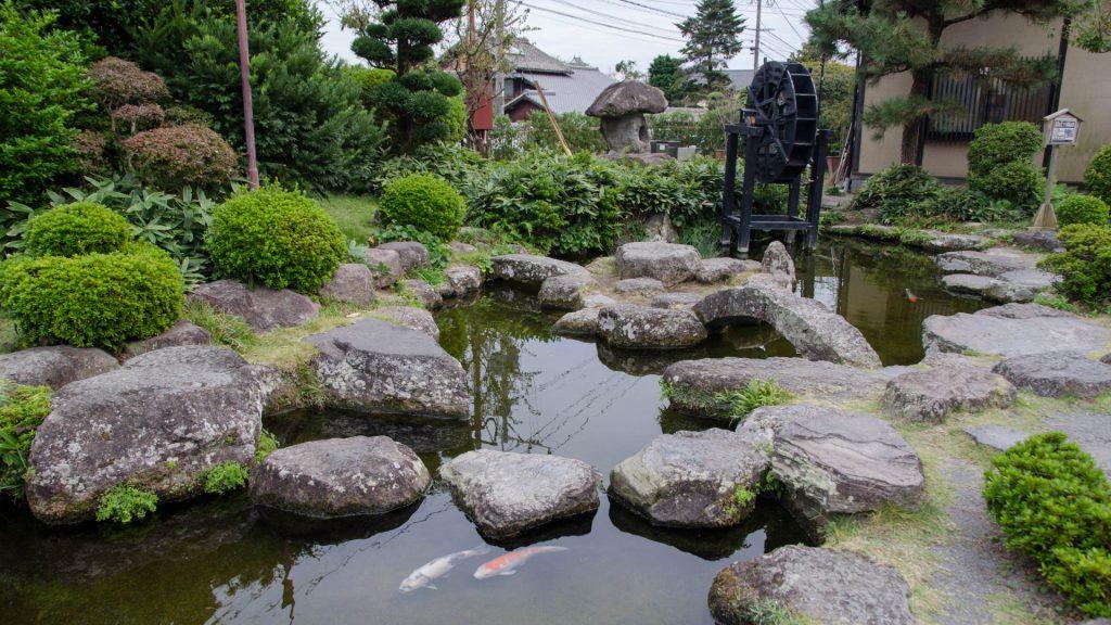 Koi-Teich in Shimabara Japan