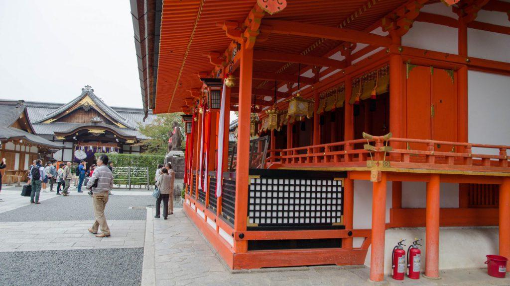 Der Fushimi Inari-Schrein von innen