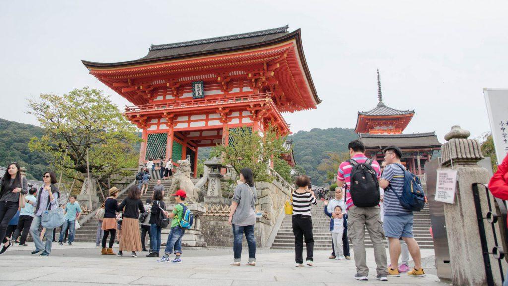 Eingang des Kiyomizudera Tempels