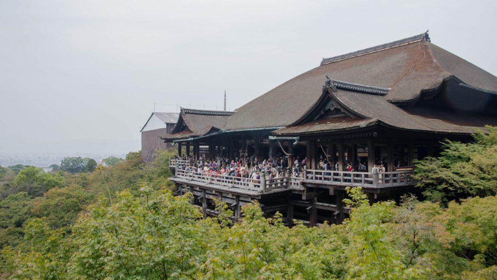 Ansicht des Kiyomizudera Tempels