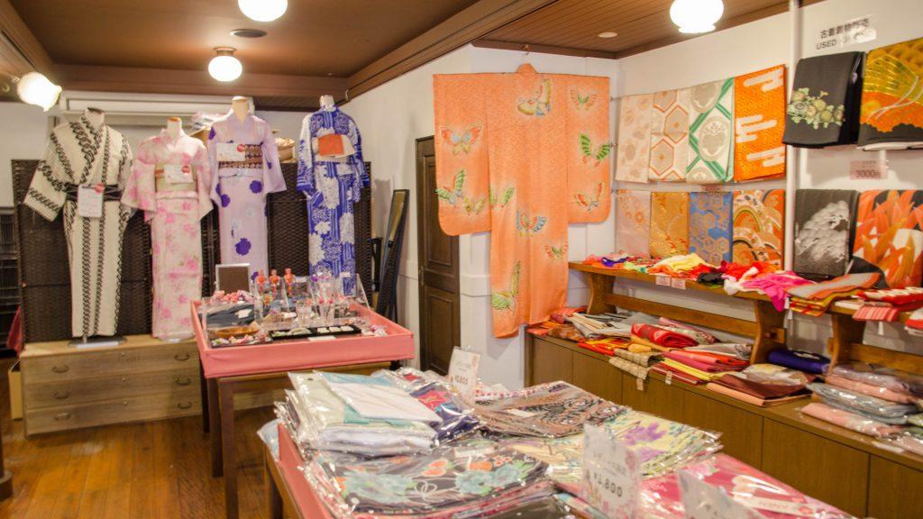 Kimono-Laden in Kyoto