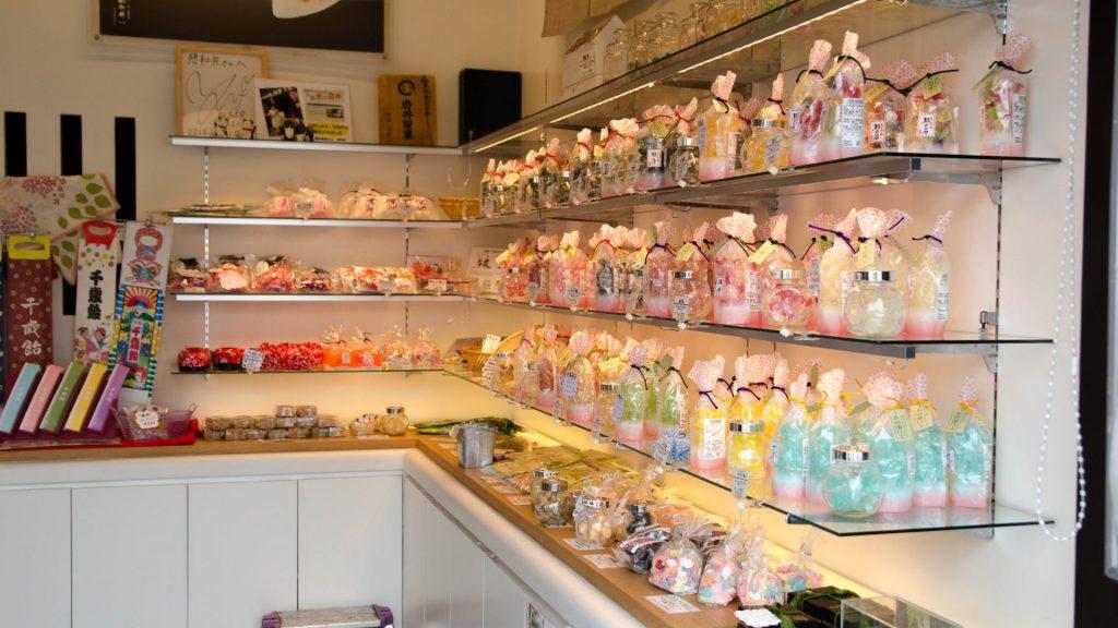 Suessigkeiten-Laden in Kyoto