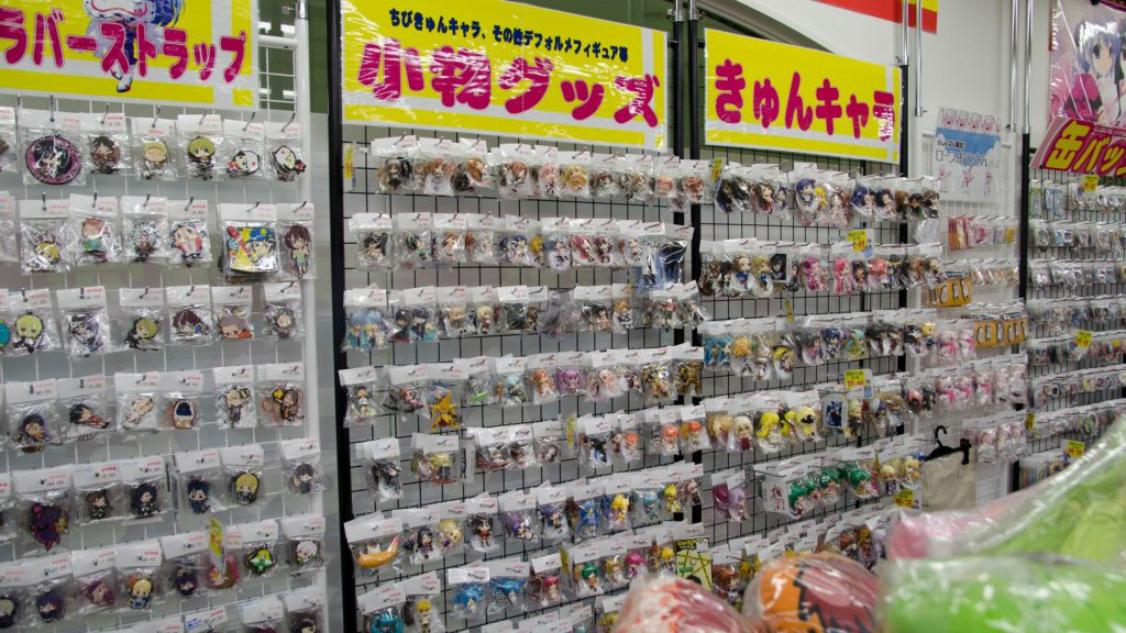 Merchandise im Anime-Shop in Japan