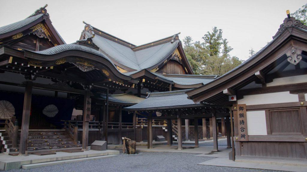 Tempel in Ise in Japan