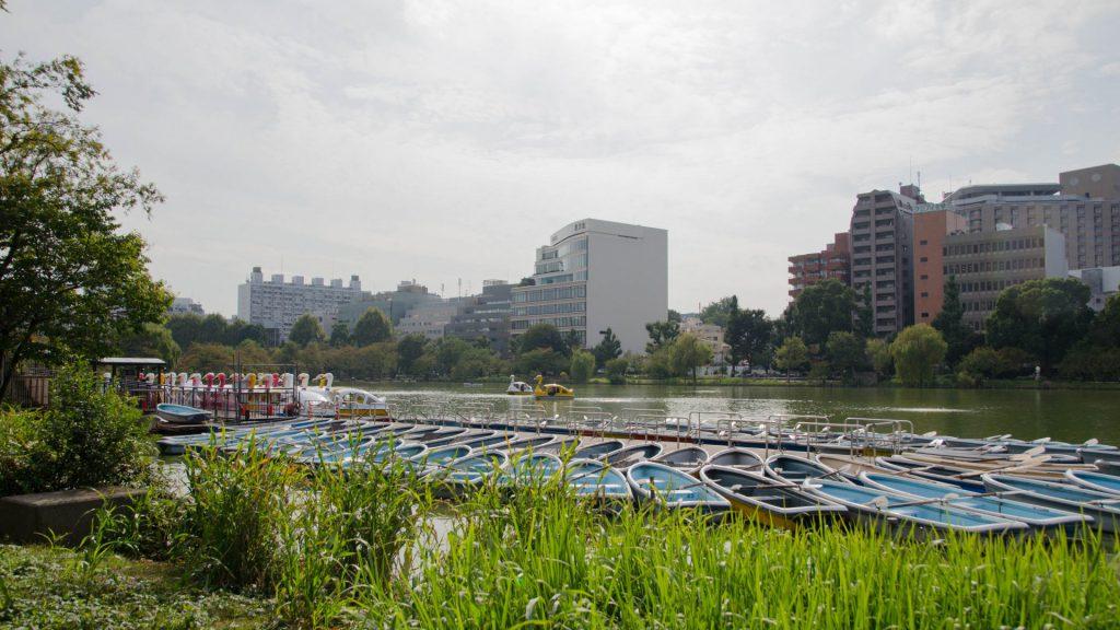 Boote beim Ueno-Park