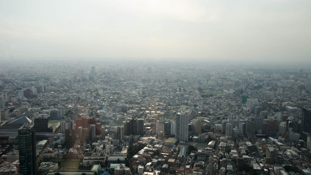 Ausblick vom Regierungsgebaeude in Tokyo