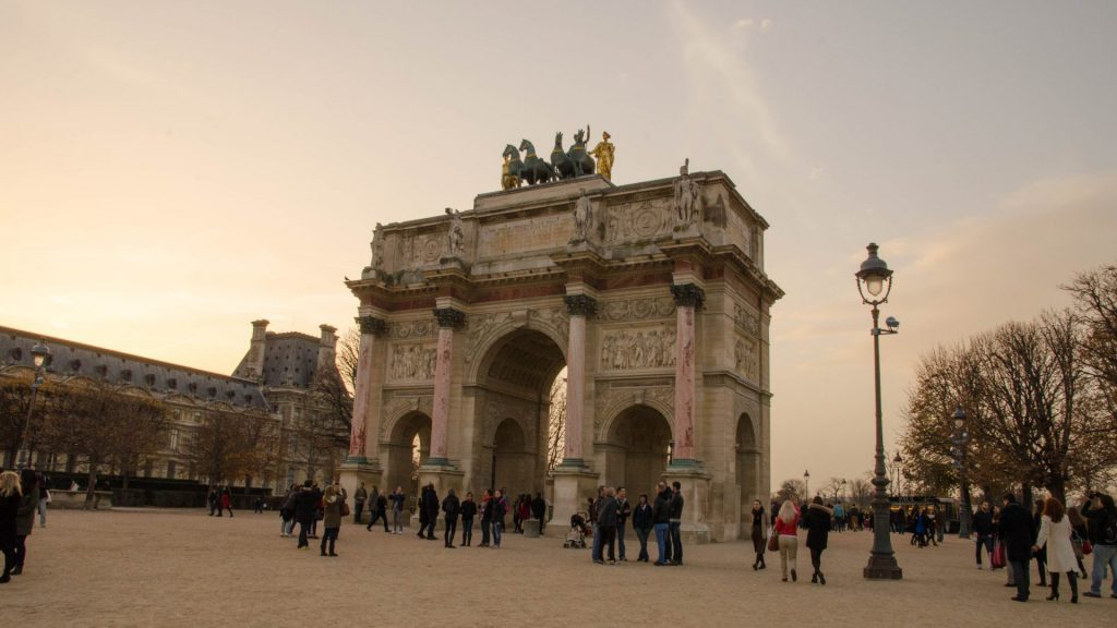 Der Triumphbogen in Paris
