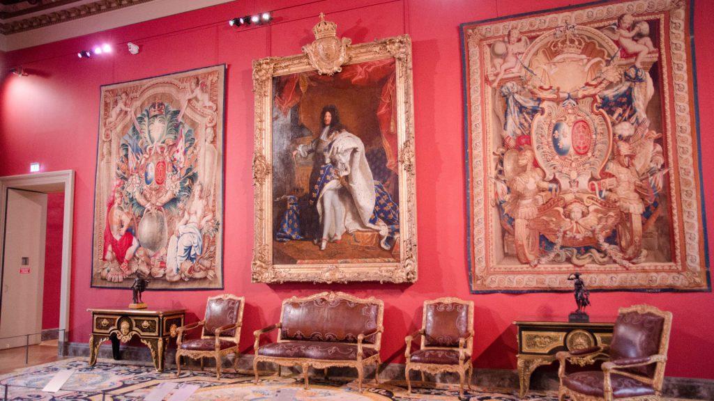 Imposantes Gemaelde im Louvre in Paris