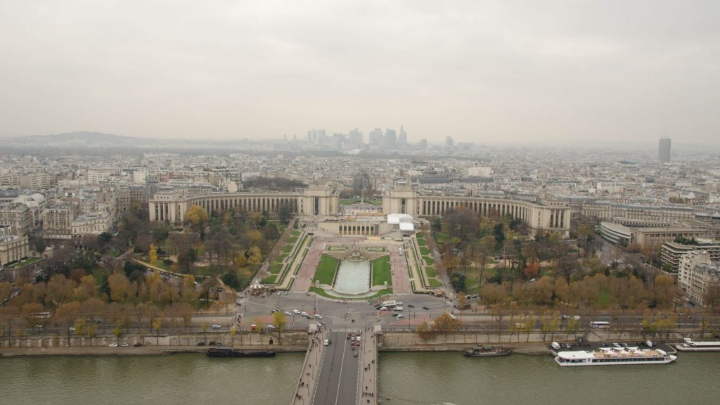 Nord-Aussicht vom Eiffelturm in Paris