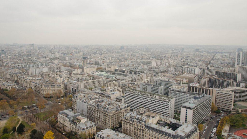Sued-Aussicht vom Eiffelturm in Paris